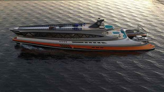 Avanguardia amazing mega yacht concept that looks like a giant shark