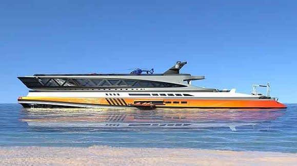 Lazzarini Design Studio amazing mega yacht concept that looks like a giant shark
