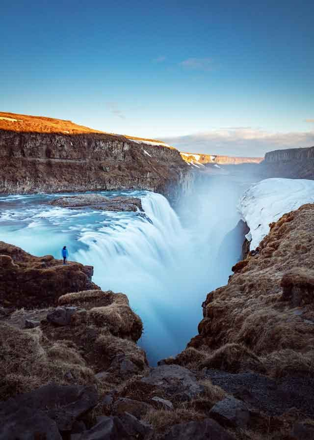 Gullfoss Falls Iceland10 of the World's Most Beautiful Waterfalls to Visit  vdiscovery arvinovoyage