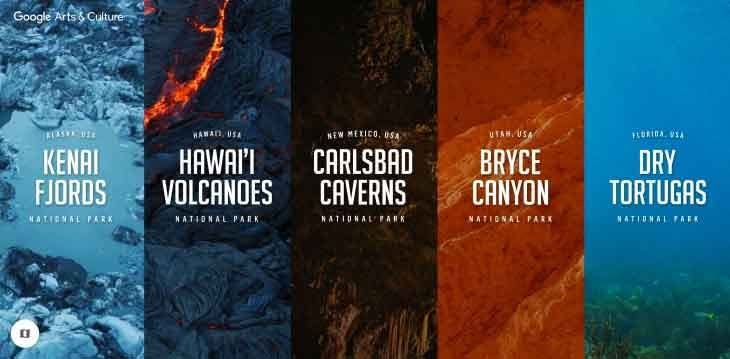 U S National Parks Google famous virtual tours online you can take on your couch vdiscovery arvinovoyage