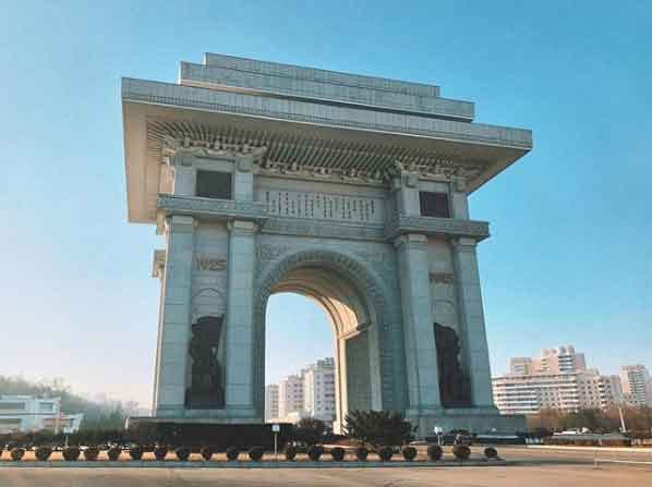 Arch Of Triumph  north korea tourism guided tour beautiful places to visit inside pyongyang vdiscovery arvinovoyage