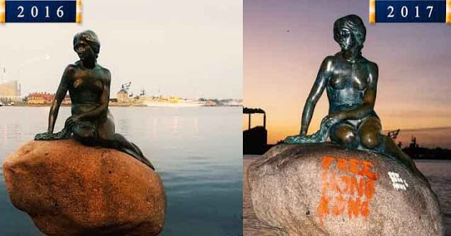 The Little Mermaid Copenhagen  20 popular tourist locations under threat that are dying vdiscovery arvinovoyage