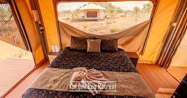 Karijini Eco Retreat best glamping destinations in the australia luxury camping resorts vdiscovery arvinovoyage