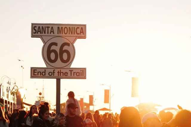 Santa Monica Route 66 Sign how to spend 24 hours in la  interesting locations in los angeles vdiscovery arvinovoyage