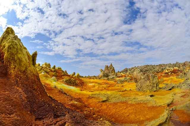 Poisonous Gas Danakil Desert tired of ordinary travel this is the most dangerous tourist place in the world