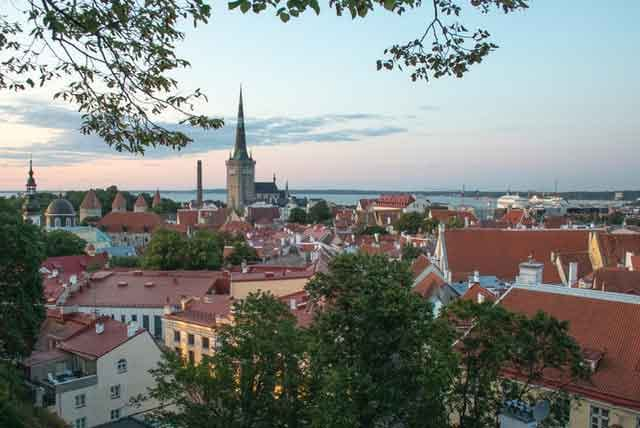 A sunset view in Tallinn Estonia top 10 cheap european destinations on a budget ranked vdiscovery arvinovoyage