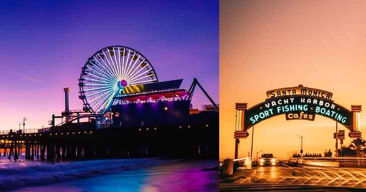 Santa Monica pier Sign how to spend 24 hours in la  interesting locations in los angeles vdiscovery arvinovoyage
