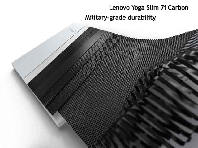 Lenovo Yoga Slim 7i Carbon Military grade durability vdiscovery arvinovoyage